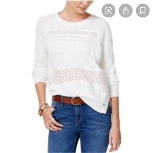 Tommy Hilfiger In Bloom Embroidered Eyelet Sweater
